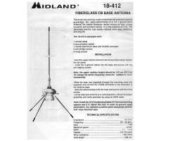Антенна Midland 18-412, 1/4»