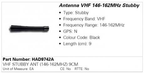 Антенна Motorola HAD9742A (136-155)