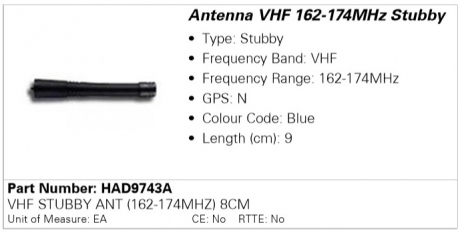 Антенна Motorola HAD9743A (162-174)