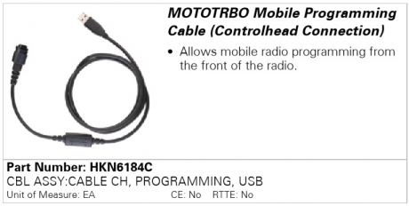 Motorola HKN6184C, программатор