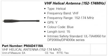 Антенна Motorola PMAD4118A (152-174MHz)