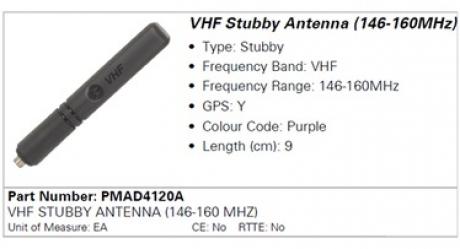 Антенна Motorola PMAD4120A (146-160MHz)