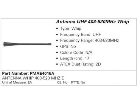 Антенна Motorola PMAE4016A UHF