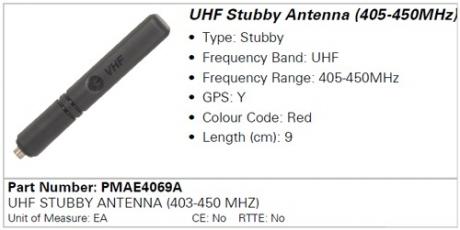 Антенна Motorola PMAE4069A (403-450MHz)