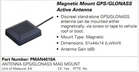 Антенна Motorola PMAN4010A GPS
