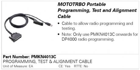 Motorola PMKN4013C, программатор
