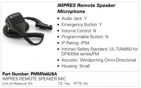 Motorola PMMN4025A