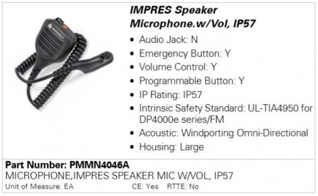 Motorola PMMN4046A