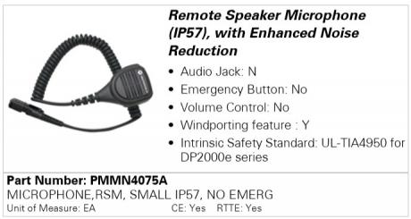 Motorola PMMN4075A