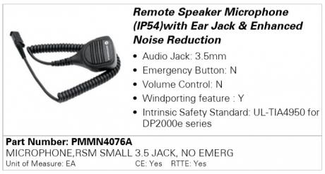 Motorola PMMN4076A