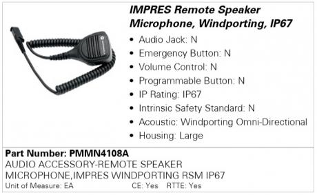 Motorola PMMN4108A